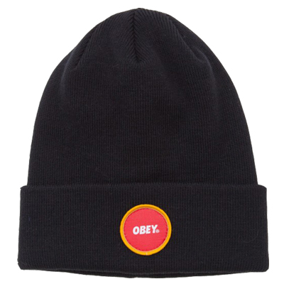 OBEY Beanie CIRCLE LOGO PATCH black