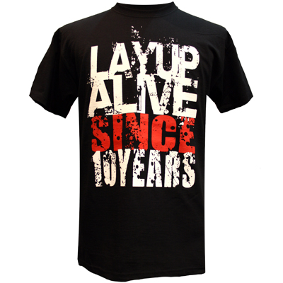 LAYUP 10 Years T-Shirt ALIVE black