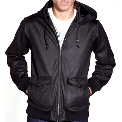 OBEY Leather Jacket SILENT SHOUT II black