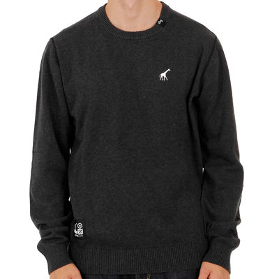 LRG Knit Sweater CC CREWNECK KNIT black heather