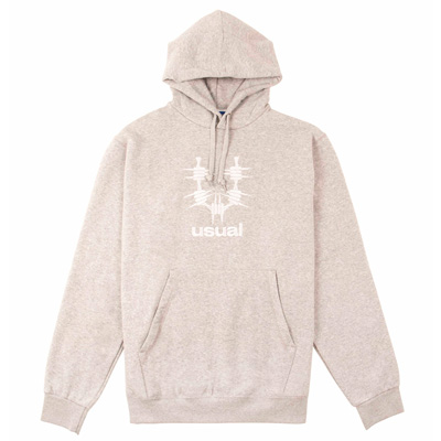USUAL Hoody U LOGO heather grey/white