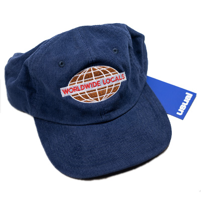 USUAL Dad Hat WORLDWIDE LOCALS navy