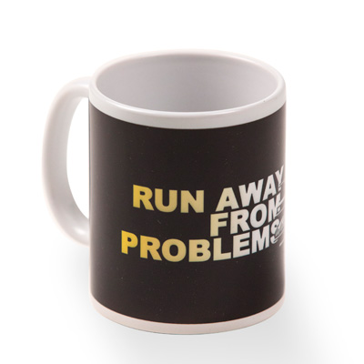 USUAL Mug RUN AWAY black/yellow