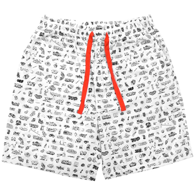 LOUSY LIVIN x 1UP Beach Shorts 1UPLIVIN white