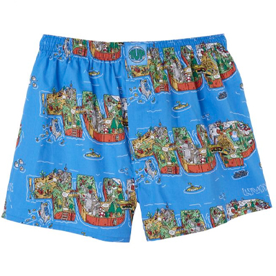 LOUSY LIVIN x 1UP Boxershorts LOUSY1UPLIVIN 4.0 blue