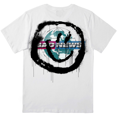 1UP T-Shirt BAD NEWS white