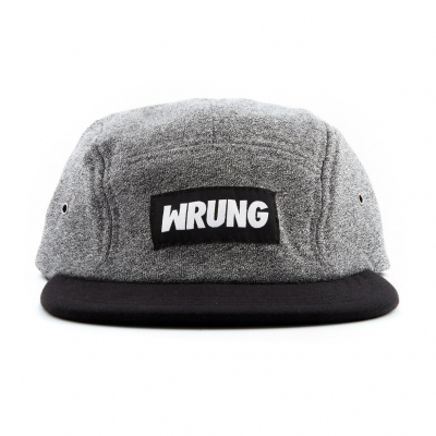 WRUNG 5Panel Cap BOX CVC heather grey