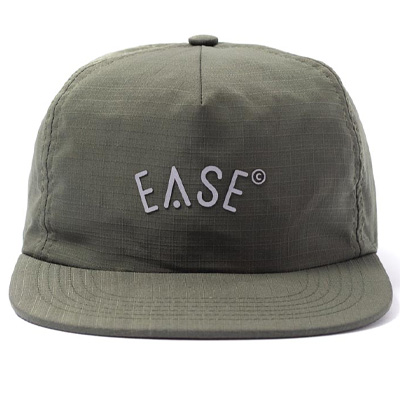 EASE 5Panel Cap LOGO olive green