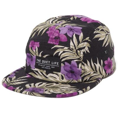 THE QUIET LIFE 5Panel Cap HAWAIIAN FLORAL black