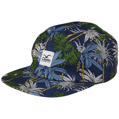 CLEPTOMANICX 5Panel Cap PALMS dark navy