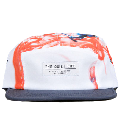 THE QUIET LIFE 5Panel Cap INK white/red/navy