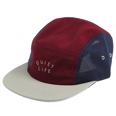 THE QUIET LIFE 5Panel Cap RUNNER burgundy/navy/stone