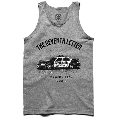 7TH LETTER Tank Top L.A. 1992 heather grey