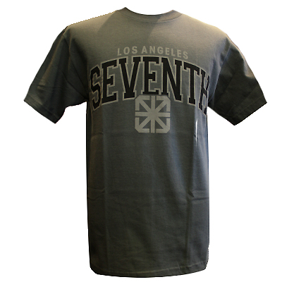 7TH LETTER T-Shirt SEVENTH L.A. charcoal