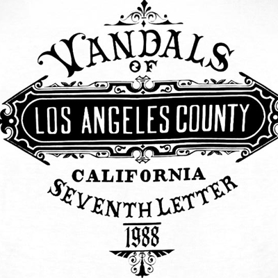 The Seventh Letter 7TH LETTER T Shirt L A COUNTY white The