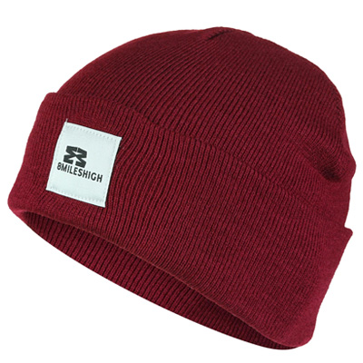 EIGHT MILES HIGH Beanie SHORT burgundy