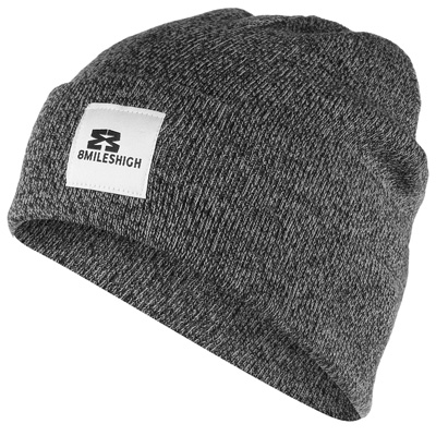 EIGHT MILES HIGH Beanie SHORT salt'n'pepper