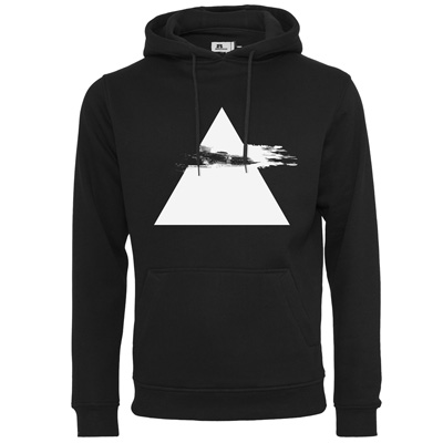 EIGHT MILES HIGH Hoody PYRAMID black/white