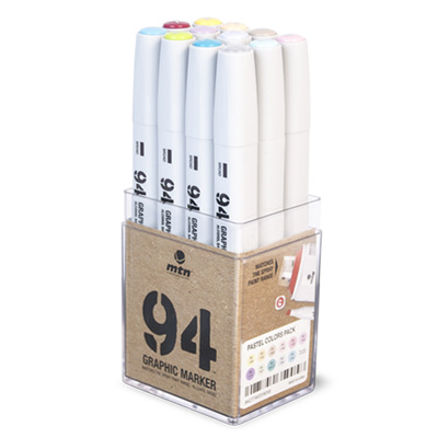 MTN 94 Graphic Twin Marker 12er Set Pastel