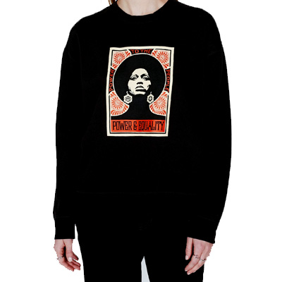 OBEY Girl Sweater AFROCENTRIC black