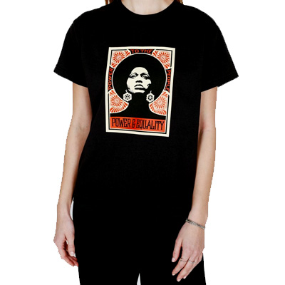 OBEY Girl Shirt AFROCENTRIC black