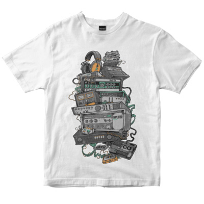 DEPHECT T-Shirt ANALOGUE white