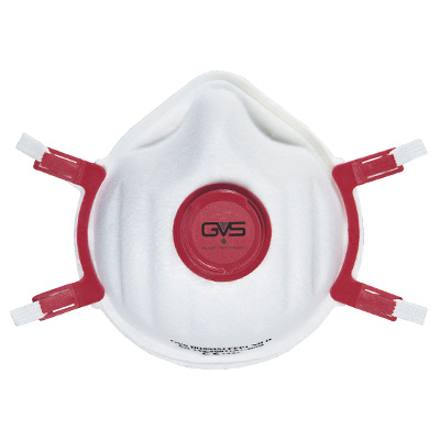 GVS Respirator Mask FFP3 NR D white/red