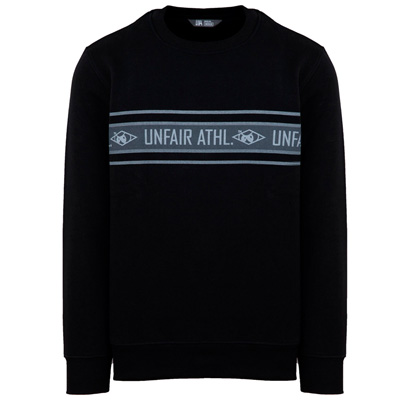 UNFAIR ATHLETICS Sweater ATHL STRIPED black/grey