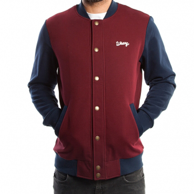 WRUNG College Jacke 75TH DIVISION burgundy