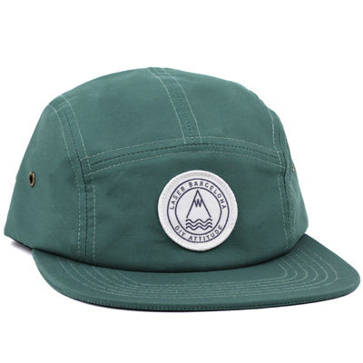 LASER 5Panel Cap BARCELONETA bottle green