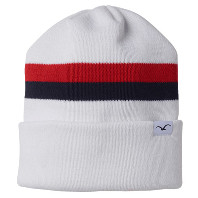 CLEPTOMANICX Beanie 91 white/navy/red