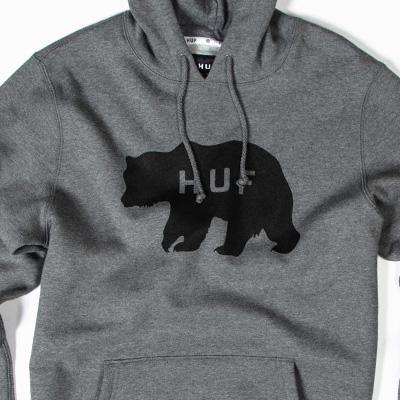 f770b780f72f94 HUF - HUF Hoody BEAR LOGO heather grey Pullover Layup Online Shop ...