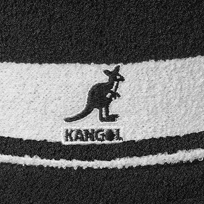 8ea70bb7a14 Kangol Headwear - KANGOL Bucket Hat BERMUDA STRIPE black white ...