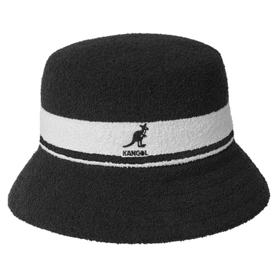 KANGOL Bucket Hat BERMUDA STRIPE black/white