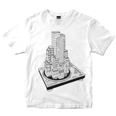 DEPHECT T-Shirt BLOCK PARTY white