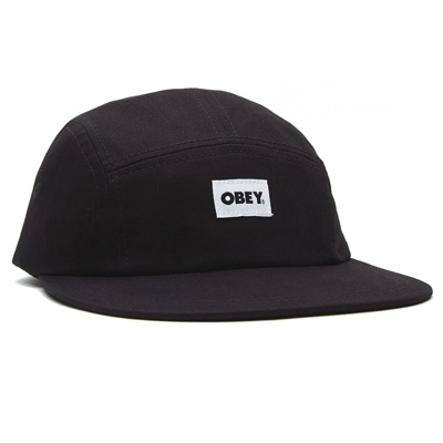 OBEY 5Panel Cap BOLD LABEL black