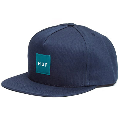 HUF Snap Back Cap BOX LOGO navy/turquoise
