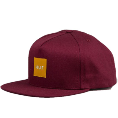 HUF Snap Back Cap BOX LOGO wine/orange