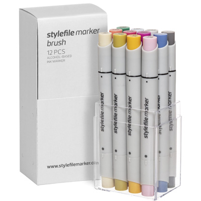 STYLEFILE Marker BRUSH 12er Set MULTI 23