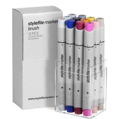STYLEFILE Marker BRUSH 12er Set MULTI 17