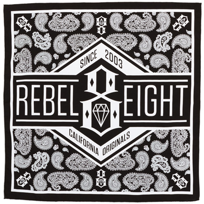 REBEL8 Bandana CALIFORNIA ORIGINALS black/white