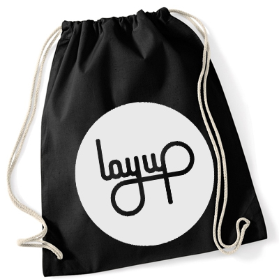 LAYUP Gym Bag CIRCLE LOGO cotton black