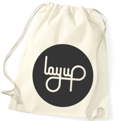 LAYUP Gym Bag CIRCLE LOGO cotton natural