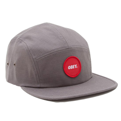 OBEY 5Panel Cap CIRCLE PATCH LOGO gunmetal