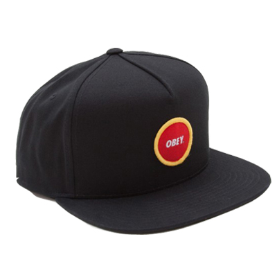 OBEY Snap Back Cap CIRCLE PATCH LOGO black