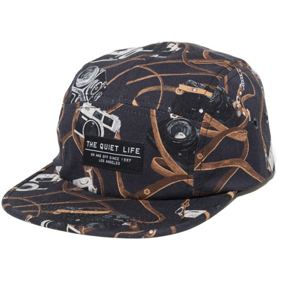 THE QUIET LIFE 5Panel Cap CAMERA STRAP black