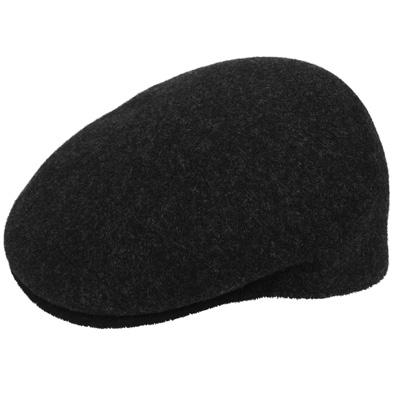 e551b2498 KANGOL Flat Cap WOOL 504-S black marl