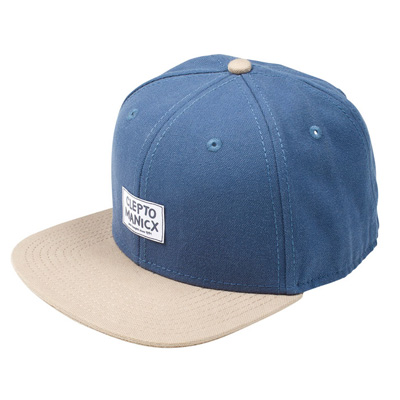 CLEPTOMANICX Snap Back Cap BADGER blue/beige