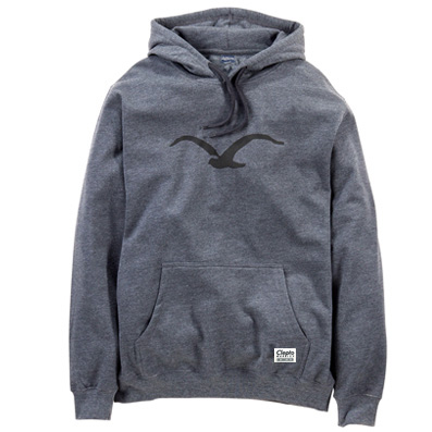 CLEPTOMANICX Hoody MÖWE heather dark grey/black