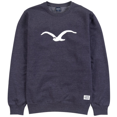 CLEPTOMANICX Sweater MÖWE heather dark navy/white